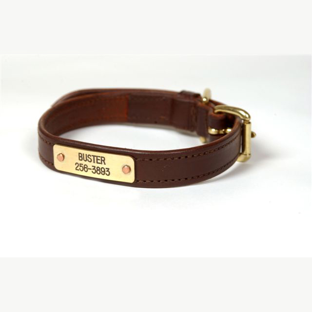 Flat Leather Dog Collars