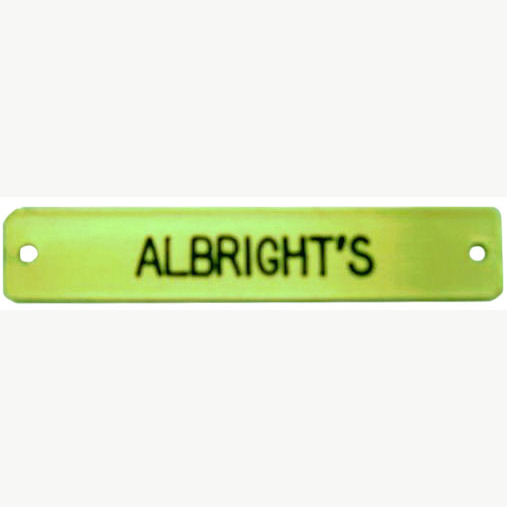 SOLID BRASS HALTER NAMEPLATES - Free Shipping